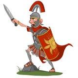 Centurion. Screaming Roman centurion. Vector illustration Stock Images