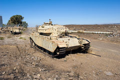 Centurion tank left of the yom kippur war Stock Image
