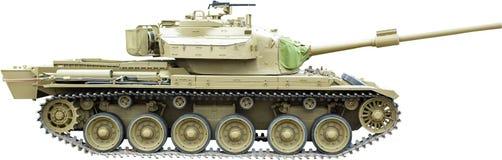 Centurion Tank op wit wordt geïsoleerd dat Stock Afbeeldingen