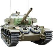 Centurion Tank op wit wordt geïsoleerd dat Stock Foto