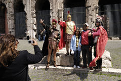 Centurions at the Coliseum,Rome,Italy Royalty Free Stock Photos