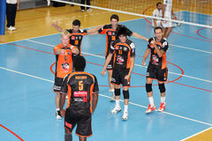 Centurions Narbonne vs Paris Volley Royalty Free Stock Photos