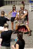 Centurions pose a fee for tourists,Rome,Italy Royalty Free Stock Images