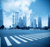 Century avenue in shanghai Royalty Free Stock Photos