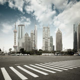 The century avenue in shanghai Stock Photography