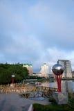 Century Avenue sidewalk Hulunbeier Manzhouli Stock Images