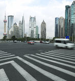 The century avenue of  street scene in Lujiazui. The century avenue of  street scene in shanghai Lujiazui,China Stock Photography