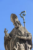 18 century Baroque statue of Bishop  St Stanislaus , Church on Skalka, Krakow, Poland Royalty Free Stock Photo
