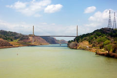 The Century bridge is the second bridge over the Panama canal Royalty Free Stock Photo