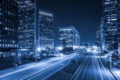 Los Angeles at Night Royalty Free Stock Photo