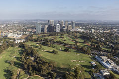 Century City and the Los Angeles Country Club Stock Image