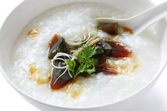 Century egg congee , chinese food Stock Image