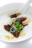 Century egg congee , chinese food Stock Images