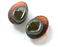 Century egg sliced open Stock Photos