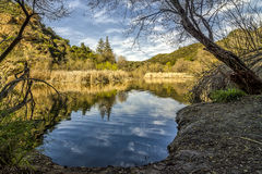 Century Lake Horizontal. Century Lake at Malibu Creek State Park. Horizontal View Royalty Free Stock Image