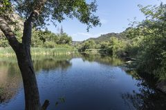 Century Lake at Malibu Creek State Park in California. Century Lake at Malibu Creek State Park in the Santa Monica Mountains near Los Angeles, California Stock Photos