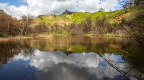 Century Lake. In Southern California stock photography