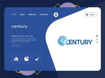 Century Landing page website template design. Quality One Page century Website Template Vector Eps, Modern Web Design with flat UI elements and landscape Stock Photos