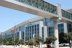 Century Link Center-Omaha, Nebraska. Exterior view of the CenturyLink Center in downtown Omaha which is host to many concert events and conventions each year Stock Images