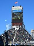 Century Link Field. Signage and Big Screen at Century Link Field Seattle WA Stock Photos