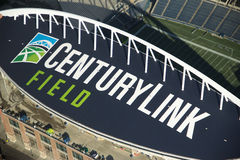 Century Link Field - Aerial. Aerial View of the new logo on Century Link Field (formerly Qwest Field Royalty Free Stock Image