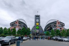 CenturyLink fält (Seahawks stadion), Seattle, Washington, USA arkivbilder