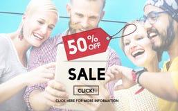 Ceny Sprzedaży etykietki promoci rabata Homepage pojęcie fotografia stock
