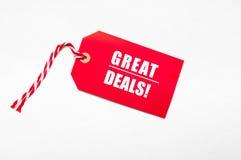 Ceny sprzedaży redukcyjna etykietka dla rabatów obrazy royalty free