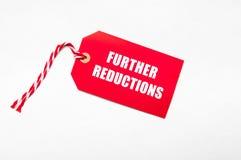 Ceny sprzedaży redukcyjna etykietka dla rabatów Fotografia Royalty Free