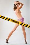 Cenzurująca seksowna młoda kobieta Fotografia Royalty Free