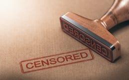 Cenzurujący informacja, cenzura i wolność słowa, royalty ilustracja