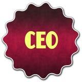 CEO圆的徽章 库存图片
