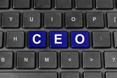 CEO ή λέξη Διευθυνόντων Συμβούλων στο πληκτρολόγιο Στοκ Φωτογραφίες
