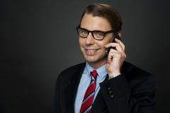 CEO που επικοινωνεί με τους επιχειρησιακούς χρήστες του Στοκ εικόνα με δικαίωμα ελεύθερης χρήσης