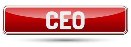 CEO - Abstract beautiful button with text. Royalty Free Stock Photography