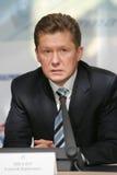 CEO Alexey Miller de Gazprom Fotografía de archivo libre de regalías
