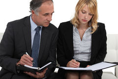 CEO and assistant Stock Image