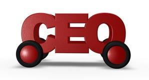 CEO auf Rädern stock abbildung