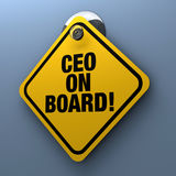 CEO on Board Sign Royalty Free Stock Image