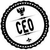 CEO bollo del nero Fotografia Stock