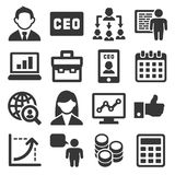 CEO and Business Management Icons Set. Vector. Illustration Royalty Free Stock Photos
