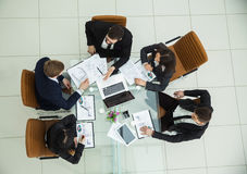 CEO and the business team at a working meeting Stock Image