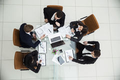 CEO and the business team at a working meeting Stock Photo