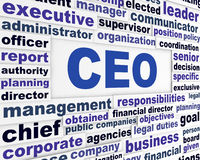 CEO business words concept Royalty Free Stock Image