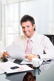 CEO - Businessman in office Stock Images