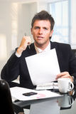 CEO - Businessman in office Royalty Free Stock Image