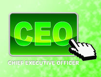 Ceo Button Means Chief Executive Officer And Chairman Royalty Free Stock Image
