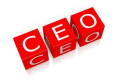 CEO - Chief Executive Officer Royalty Free Stock Photo