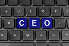 CEO or chief executive officer word on keyboard Stock Photos