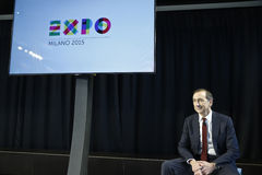 CEO de Giuseppe Sala del balneario 2015 de la expo Foto de archivo